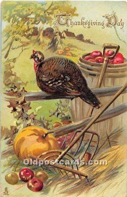 hol061706 - Thanksgiving Old Vintage Antique Postcard Post Card