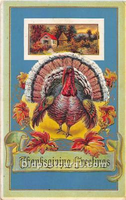 hol061719 - Thanksgiving Old Vintage Antique Postcard Post Card