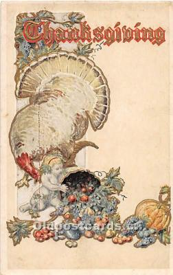 hol061726 - Thanksgiving Old Vintage Antique Postcard Post Card