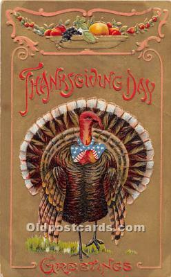 hol061733 - Thanksgiving Old Vintage Antique Postcard Post Card