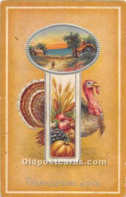 hol061735 - Thanksgiving Old Vintage Antique Postcard Post Card