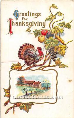 hol061736 - Thanksgiving Old Vintage Antique Postcard Post Card