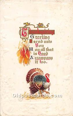 hol061745 - Thanksgiving Old Vintage Antique Postcard Post Card