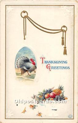 hol061746 - Thanksgiving Old Vintage Antique Postcard Post Card