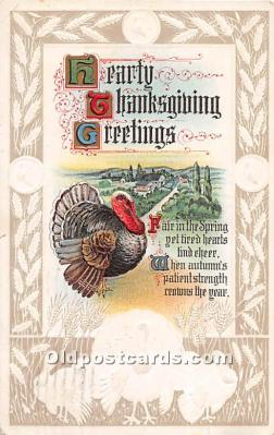 hol061748 - Thanksgiving Old Vintage Antique Postcard Post Card