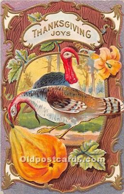 hol061750 - Thanksgiving Old Vintage Antique Postcard Post Card