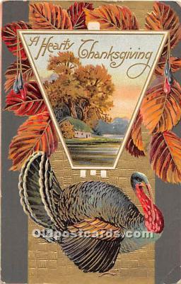 hol061753 - Thanksgiving Old Vintage Antique Postcard Post Card