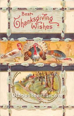 hol061756 - Thanksgiving Old Vintage Antique Postcard Post Card