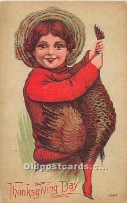 hol061759 - Thanksgiving Old Vintage Antique Postcard Post Card