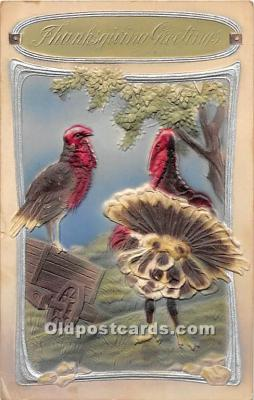 hol061762 - Thanksgiving Old Vintage Antique Postcard Post Card