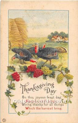 hol061797 - Thanksgiving Old Vintage Antique Postcard Post Card