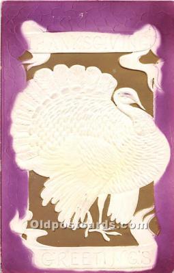 hol061798 - Thanksgiving Old Vintage Antique Postcard Post Card