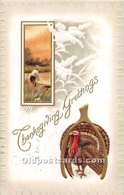 hol061814 - Thanksgiving Old Vintage Antique Postcard Post Card