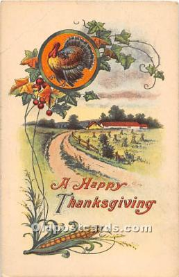 hol061821 - Thanksgiving Old Vintage Antique Postcard Post Card