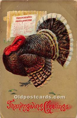 hol062035 - Thanksgiving Old Vintage Antique Postcard Post Card