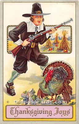 hol062095 - Thanksgiving Old Vintage Antique Postcard Post Card