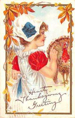 hol064129 - Thanksgiving Postcard Old Vintage Antique Post Card