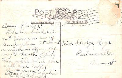 hol064129 - Thanksgiving Postcard Old Vintage Antique Post Card  back