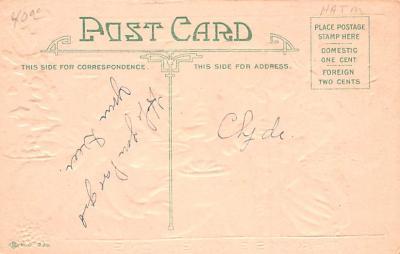 hol064149 - Thanksgiving Postcard Old Vintage Antique Post Card  back
