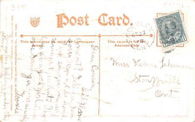 hol064173 - Thanksgiving Postcard Old Vintage Antique Post Card  back