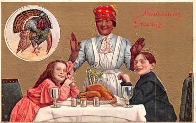hol064183 - Thanksgiving Postcard Old Vintage Antique Post Card
