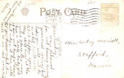 hol064183 - Thanksgiving Postcard Old Vintage Antique Post Card  back