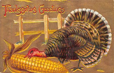 hol064205 - Thanksgiving Postcard Old Vintage Antique Post Card