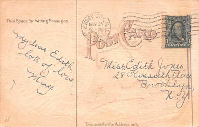 hol064205 - Thanksgiving Postcard Old Vintage Antique Post Card  back