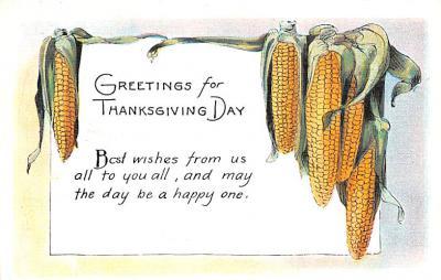 hol064229 - Thanksgiving Postcard Old Vintage Antique Post Card