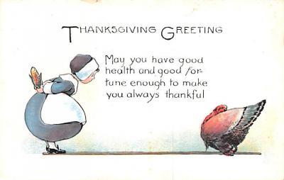 hol064307 - Thanksgiving Postcard Old Vintage Antique Post Card