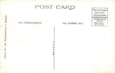 hol064307 - Thanksgiving Postcard Old Vintage Antique Post Card  back
