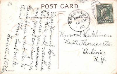 hol064407 - Thanksgiving Postcard Old Vintage Antique Post Card  back