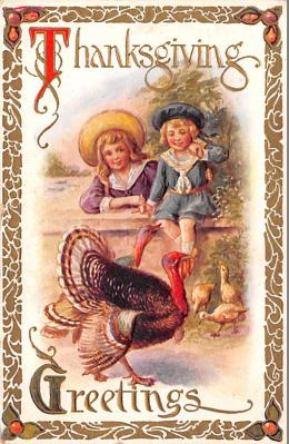 hol064659 - Thanksgiving Postcard Old Vintage Antique Post Card