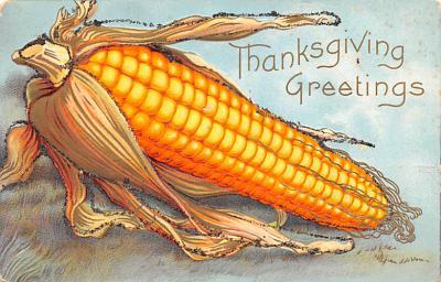 hol064703 - Thanksgiving Postcard Old Vintage Antique Post Card