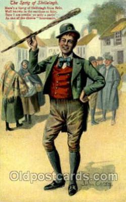 hol070069 - Artist John Carey, St. Saint Patrick's Day Postcard Postcards