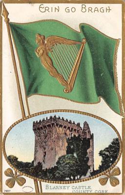 holA070392 - Blarney Castle County Cork Saint Patrick's Day Postcard