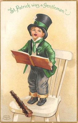 holA070422 - Artist Ellen Clapsaddle Saint Patrick's Day Postcard