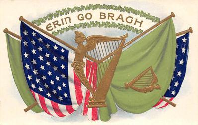 holA070493 - Flags, Erin Go Bragh Saint Patrick's Day Post Card