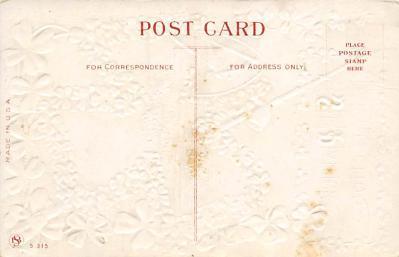 holA070385 - Lake of Killarney Saint Patrick's Day Postcard  back