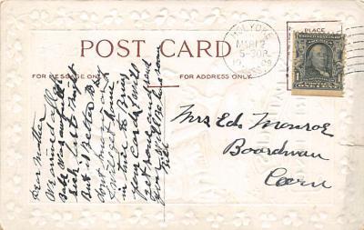 holA070388 - Harp, Erin Go Bragh Saint Patrick's Day Postcard  back