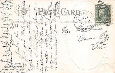 holA070392 - Blarney Castle County Cork Saint Patrick's Day Postcard  back
