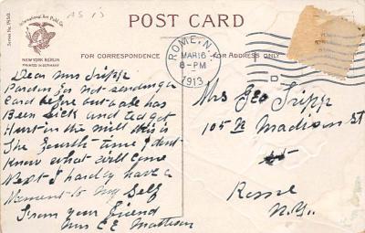 holA070398 - Artist Ellen Clapsaddle Saint Patrick's Day Postcard  back