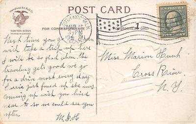 holA070422 - Artist Ellen Clapsaddle Saint Patrick's Day Postcard  back