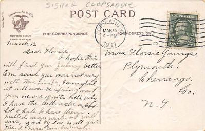 holA070444 - Artist Ellen Clapsaddle Saint Patrick's Day Post Card  back