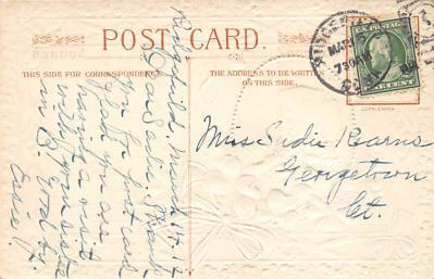 holA070537 - John Winsch St. Patricks Day Postcard  back