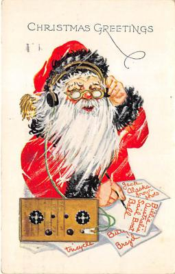 holf017930 - Santa Claus Postcard Old Christmas Post Card