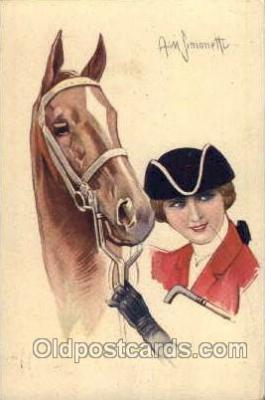 hor001098 - Artist Signed Simonetti Horse Postcard Postcards