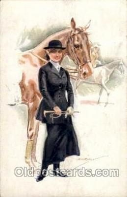 hor001099 - Artist Signed Usabal Horse Postcard Postcards