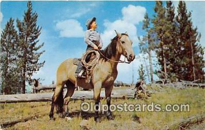 hor001591 - Young Range Rider Color by AC Shelton Postcard Post Card