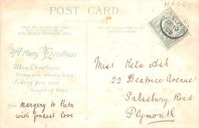htl001006 - Purple Robe, Hold To Light Santa Claus, Chirstmas, Postcard Postcards  back